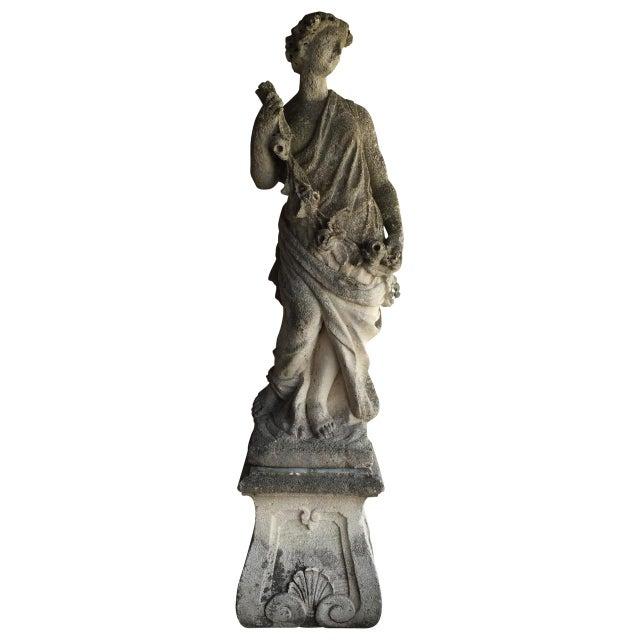 Stone Antique Italian Stone Statue For Sale - Image 7 of 7