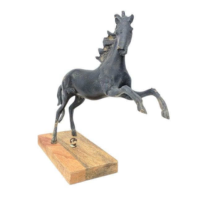 Vintage Mounted Horse Sculpture For Sale