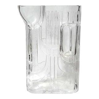 Modernist Riedel Geometric Glass Pitcher For Sale