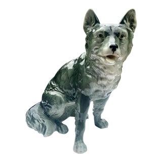 Ceramic Shepherd Dog Figurine For Sale