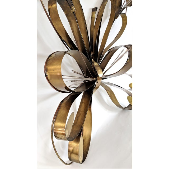 Curtis Jere Curtis Here 1974 Mid-Century Modern Brass Butterfly Wall Sculpture For Sale - Image 4 of 13
