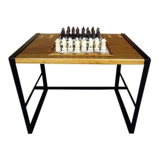 Marble Chess Top Game Table For Sale