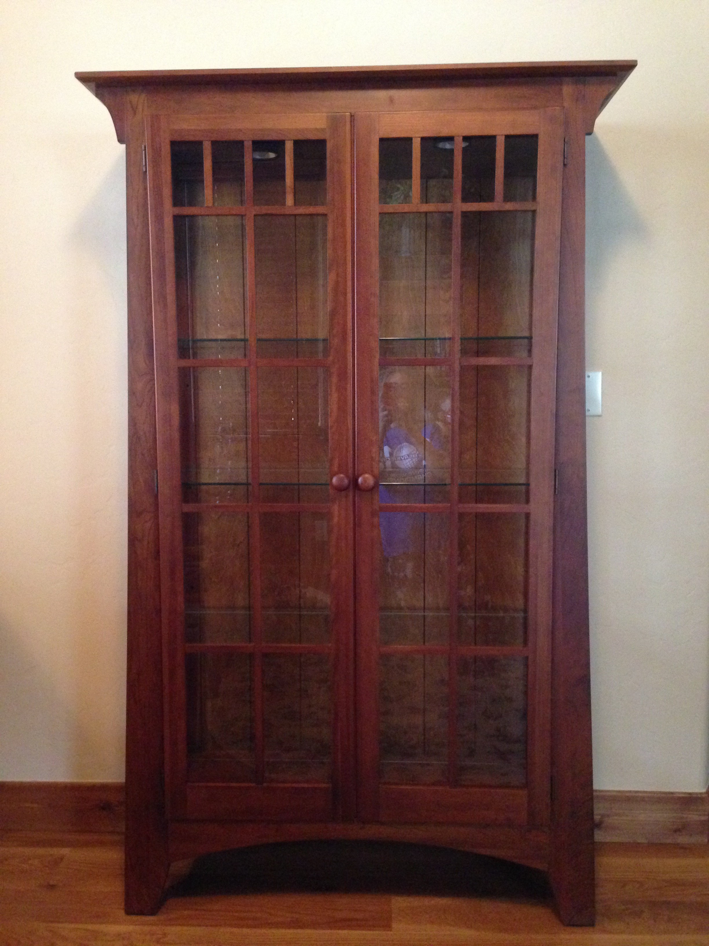 Ethan Allen American Impressions Mission Style Curio Cabinet   Image 3 Of 3