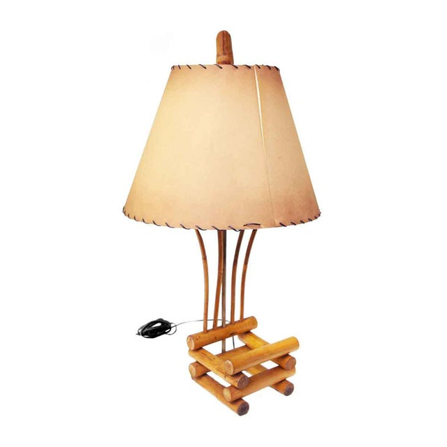 Bamboo Lamps - a Pair For Sale - Image 4 of 13