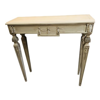 1960s French Country Hand Painted Hall/Sofa Table For Sale