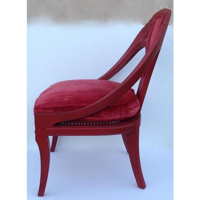 Michael Taylor for Baker Red Spoon Back Chair - Image 5 of 11