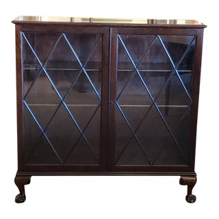 Traditional English Mahogany Bookcase C.1920 For Sale