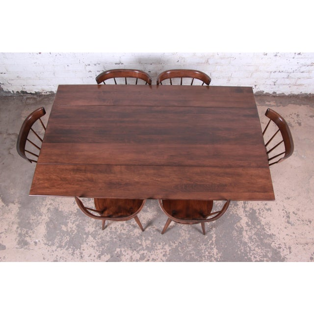 Paul McCobb Planner Group Mid-Century Modern Dining Set, Newly Restored For Sale In South Bend - Image 6 of 13