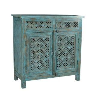 Floral Geo Side Cabinet For Sale