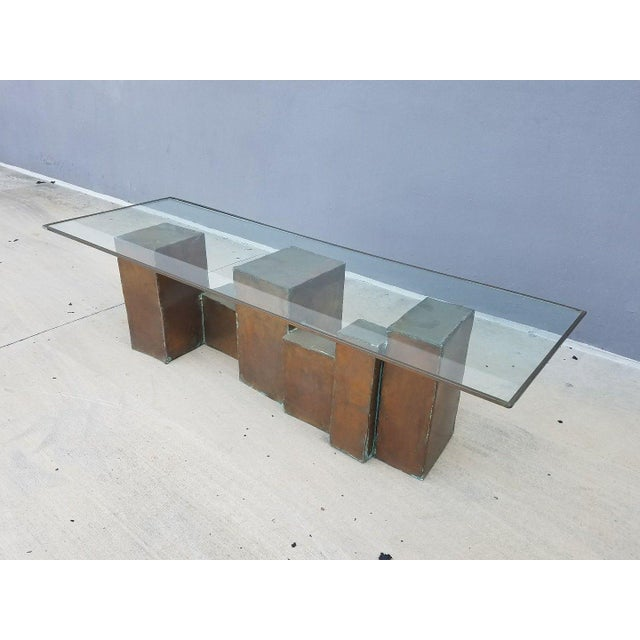 1970's Vintage David Marshall Brutalist Coffee Table For Sale In Miami - Image 6 of 11