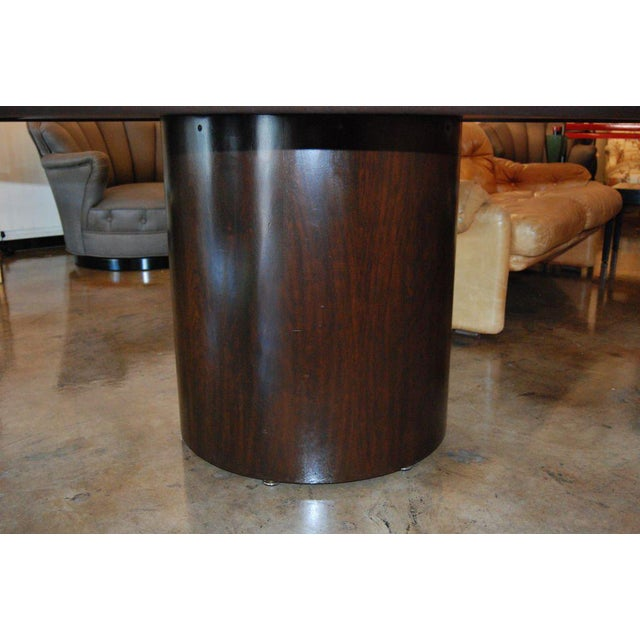 1970s Edward Wormley for Dunbar Round Dining or Center Table For Sale - Image 5 of 6