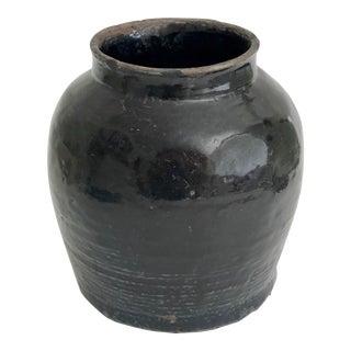 Large Glazed Pottery Vessel