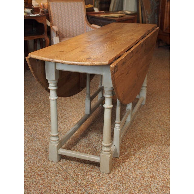 Wood 19th Century Swedish Peach Pine Dining Table For Sale - Image 7 of 13