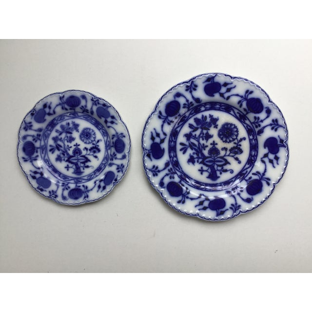 """Jonson Bros England """"Holland"""" Flow Blue Plates - a Pair For Sale - Image 13 of 13"""