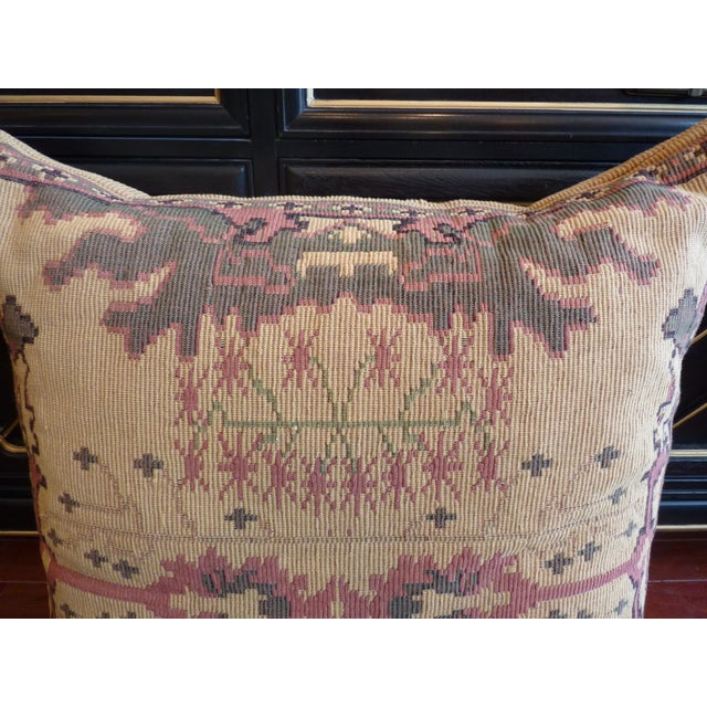 Flat Weave Tapestry Floor Pillow - Image 3 of 5