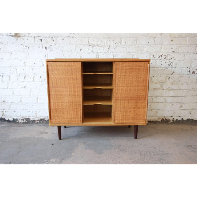 Edward Wormley for Dunbar Woven Front Cabinet For Sale In South Bend - Image 6 of 11