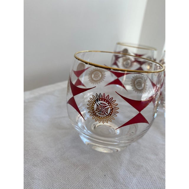 1960s Mid-Century Sasaki Roly Poly Tumbler Glasses - Set of 9 For Sale - Image 12 of 13