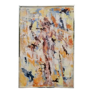 1971 Vintage S. Schewel Abstract Painting For Sale