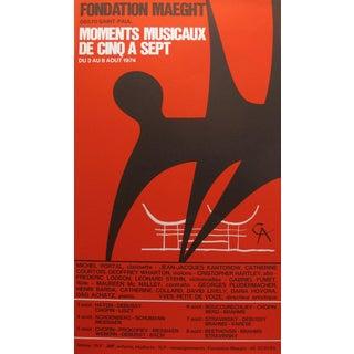 1974 Original Exhibition Poster - Fondation Maeght - Moments Musicaux De Cinq a Sept by A. Calder For Sale