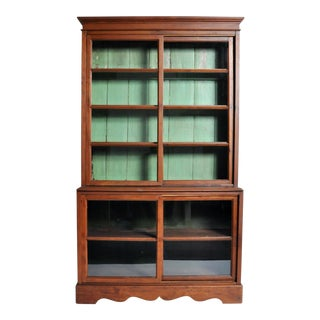 1950s British Colonial Bookcase For Sale
