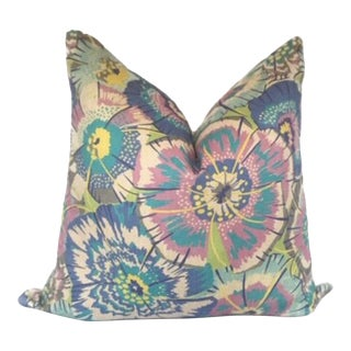 Stark Fabrics of Old World Weavers Flower Power Pillow Cover For Sale