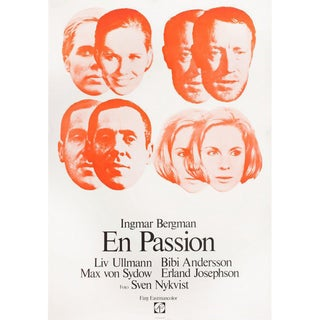 The Passion of Anna 1969 Swedish B1 Film Poster For Sale