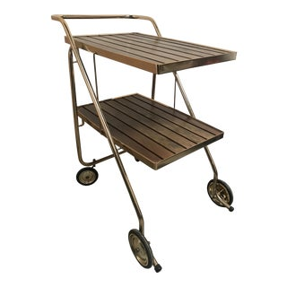 Mid-Century Rid Jid Folding Bar Cart