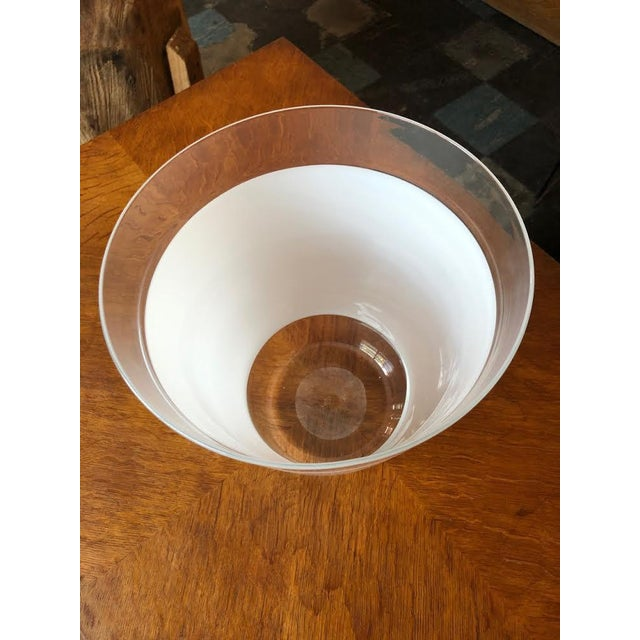 Contemporary Vintage Blown Glass Vase For Sale - Image 3 of 8
