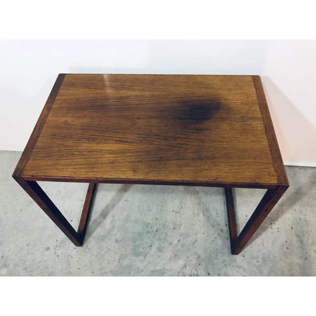 Brown Karl-Erik Ekselius Nesting Tables for j.o. Carlsson - 2 Pieces For Sale - Image 8 of 13