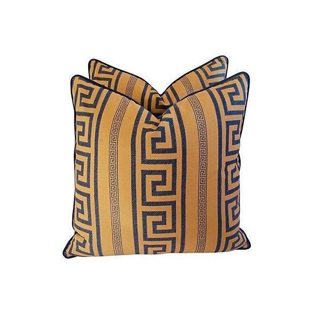 Designer Pierre Frey Greek Key Pillows - A Pair - Image 8 of 8