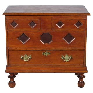 19th-C Antique Early American-Style Blanket Chest For Sale