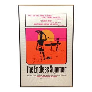 "Original Mid-Century Modern ""Endless Summer"" Movie Poster Screen Print For Sale"