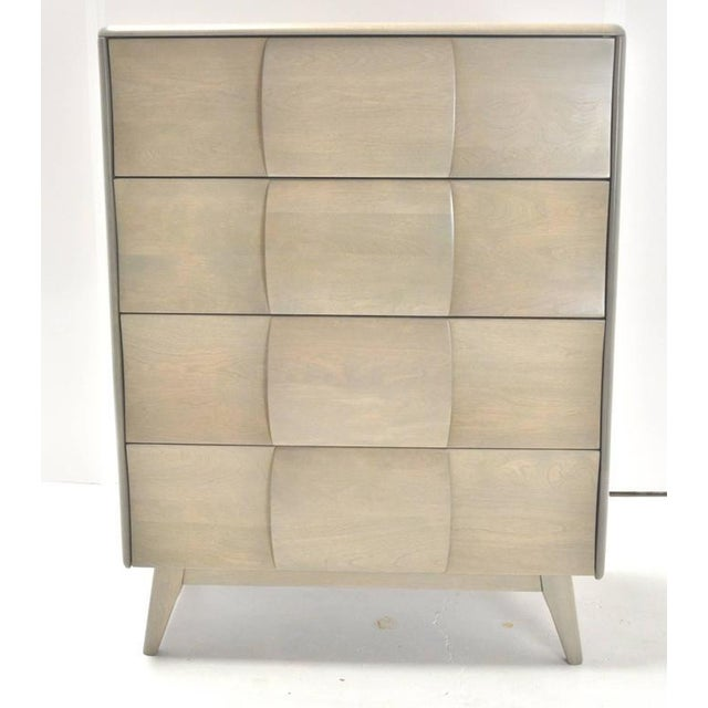 Mid-Century Modern Heywood Wakefield Block Front Chest of Drawers For Sale - Image 3 of 6