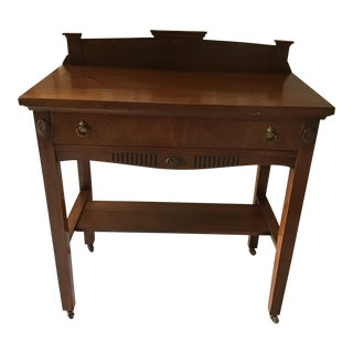 Early 20th Century Walnut Server For Sale