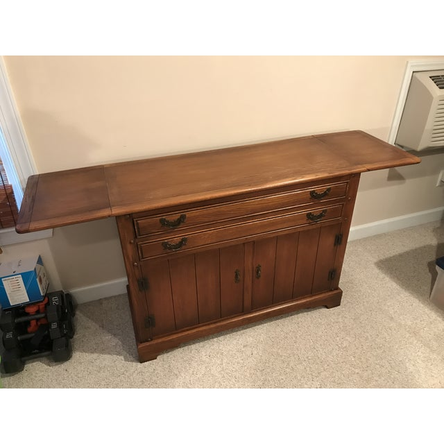 Stickley Solid Oak Server Buffet For Sale In Raleigh - Image 6 of 9