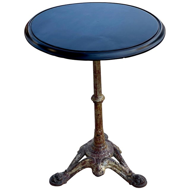 Cast Iron and Ebonized Wood Pub Table For Sale - Image 9 of 9