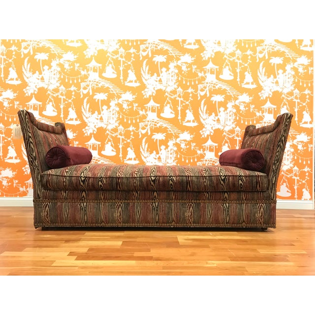 Textile 1990s Vintage Upholstered Chaise Daybed For Sale - Image 7 of 7