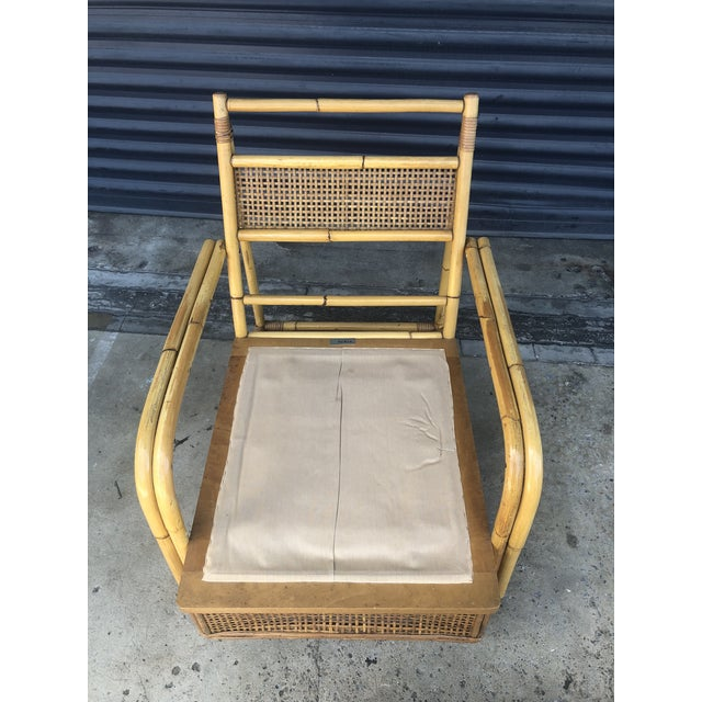 Mid Century Ficks Reed Rattan Lounge Chair For Sale - Image 11 of 12