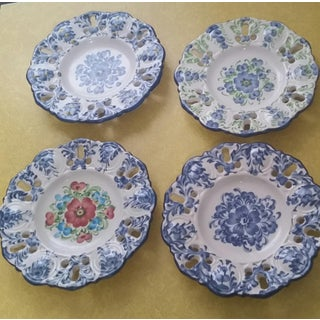 Vintage Jay Willfred Portugal Hand Painted Porcelain Plates - Set of 4 Preview