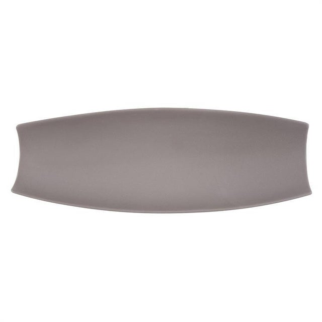 Kenneth Ludwig Matte Gray Ceramic Canoe Tray For Sale In Chicago - Image 6 of 7