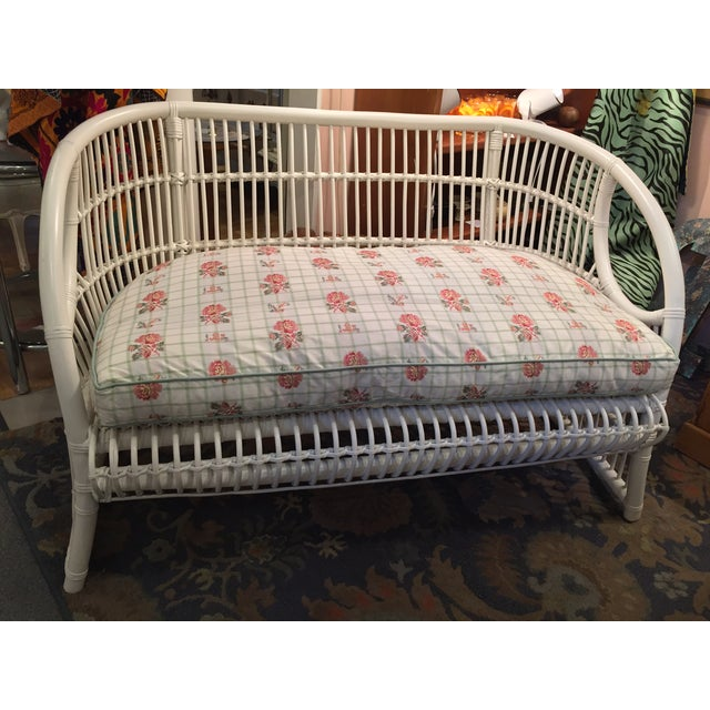 White Rattan Love Seats - A Pair - Image 2 of 8