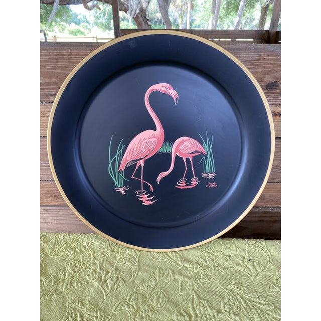 Vintage Florida Frank Childers Flamingo Wall Object For Sale - Image 11 of 11
