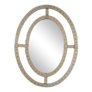 Decorative Late 20th Century Venetian Style Oval Mirror For Sale