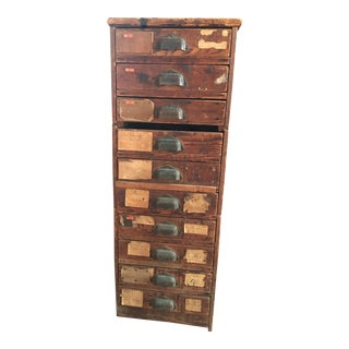 Rustic Swedish Filing Cabinet For Sale