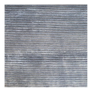 Contemporary Striped Gray Rug (12x15) For Sale