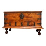 Image of Rare 17th Century Oak Coffer / Trunk / Bench For Sale