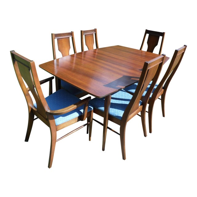 Mid-Century Modern Walnut Dining Set For Sale