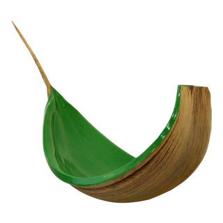 Brazilian Amazon Coconut Palm Frond Sculptural Bowl by Valeria Totti For Sale