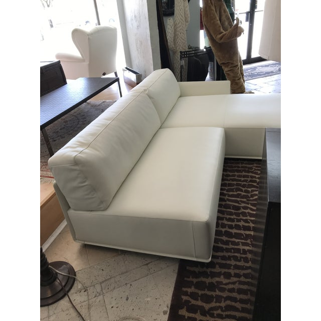 White Poltrona Frau Cassiopea Sofa For Sale - Image 8 of 10