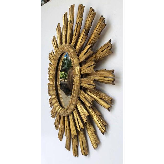 French French Gilt Starburst or Sunburst Mirror (Diameter 25) For Sale - Image 3 of 9